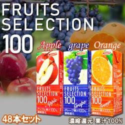 エルビー フルーツセレクション パックジュース3種類計48パック